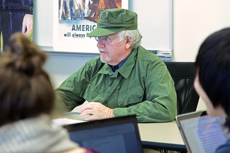 History teacher John Curran dressed as Castro for his Cuban Missile Crisis lesson.