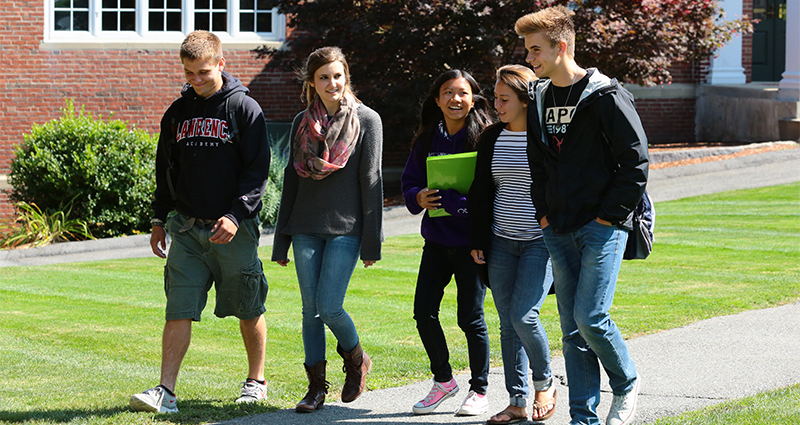 Students walking on the Quad.