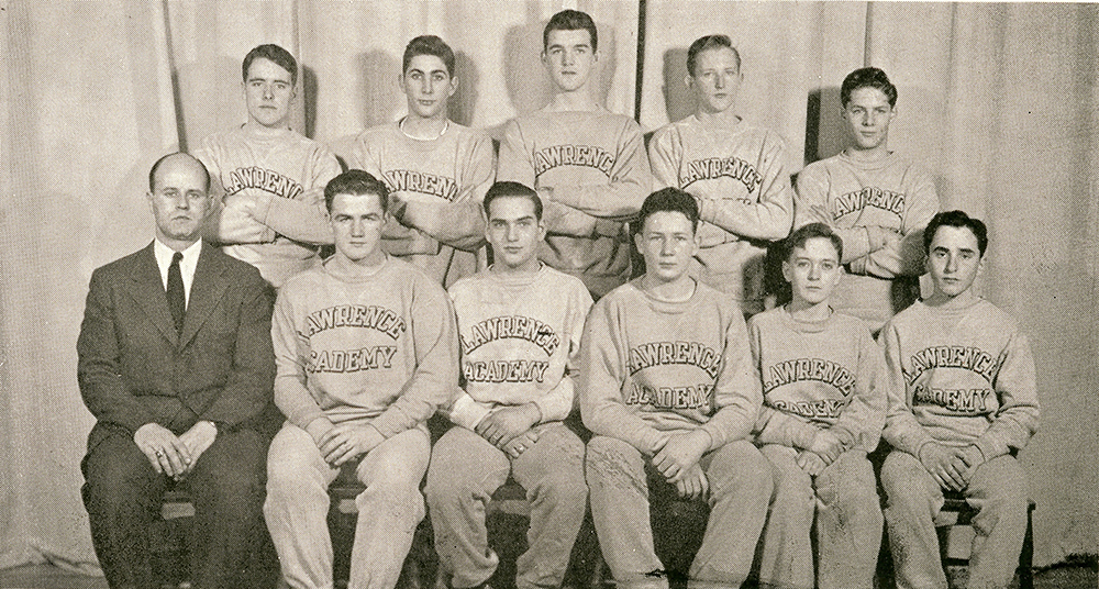 Shep with LA's first wrestling team, 1950
