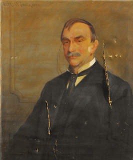 Pillsbury portrait - before restoration.